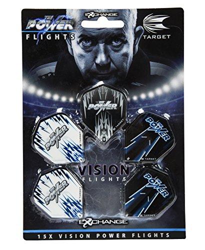 TARGET Dart Flights Power Vision Multi Pack (5 Pack), Wirklich, Einheitsgröße