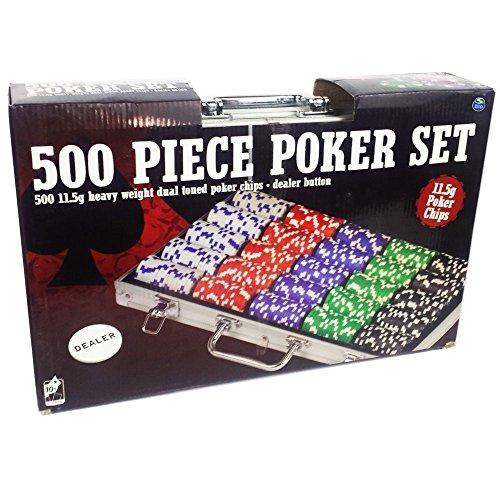 Spinmaster 603677811.5g Dual Tone Poker Chip Set in Valigetta di Alluminio (500Pezzi)