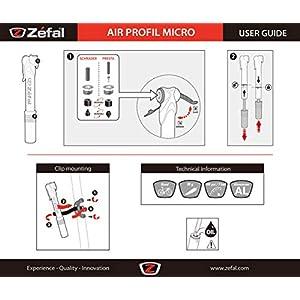 Sonstige Mini hinchador ZEFAL Air Profil Micro Negro Mate, Unisex, Talla única