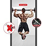 LOSRECAL [2020 Upgraded] Doorway Pull Up Bar, Chin Up Bar, Home Fitness Workout Bar No Screw Installation Adjustable Width 25'-36' Inch Health & Fitness (Black)