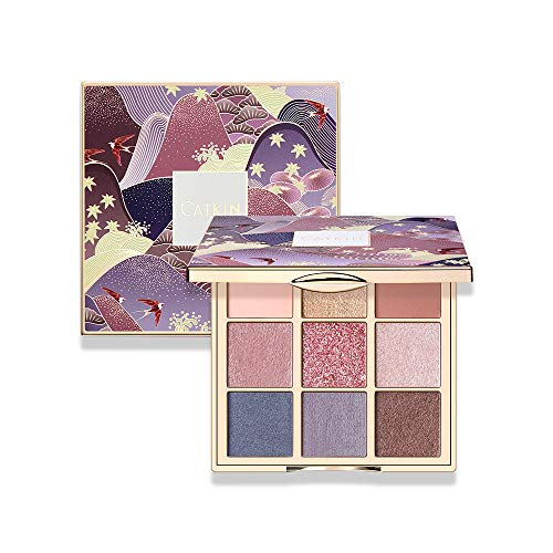 CATKIN Eyeshadow Palette Makeup Matte Shimmer 9 Colors Highly Pigmented Creamy Texture Natural Bronze Neutral Cosmetic Eye Shadows C08 MORANDI