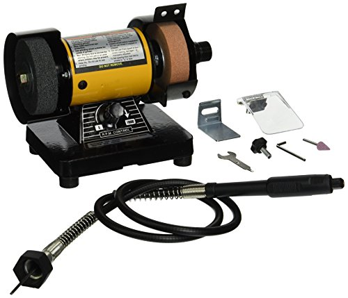 TruePower 199 Mini Multi Purpose Bench Grinder and Polisher with Flexible Shaft, Tool...