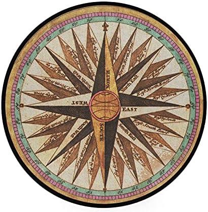 Round compass rug _image0