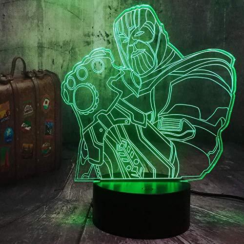 3D Led Night Light Table Lamp Comics Home Bedroom Decor Kids Toys Christmas Gift