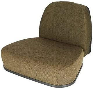 Cushion Set- Hydraulic Suspension Fabric Dark Brown Compatible with John Deere 4050 4240 7700 7700 4640 4250 4650 9600 7720 8430 4450 6600 9400 9400 6620 4040 4430 4230 4455 4630 9500 4320 4440 4850