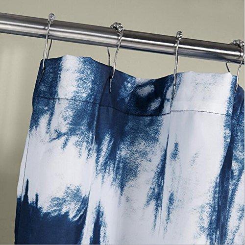 Anti-meeldauw, waterdicht polyester, dikke badkamer, douchegordijnen met metalen haken (70 x 72 inch/70 x 79 inch) (afmetingen: 70 x 72 inch)