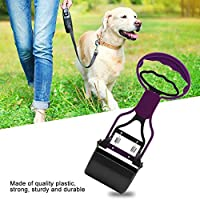 プラスチック製の片手で軽量で耐久性のある犬の糞スクープピッカー、ポータブルペット廃棄物スクーパー、廃棄物ペット廃棄物を拾うためのすべての表面(purple)