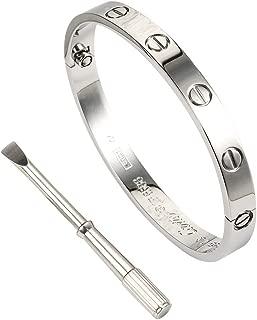 Titanium Steel Love Bracelet for Women Cuff Bracelets Valentines Wedding Couples Bracelets - Screw Bracelets for Girls Adults Girlfriend Birthday Gifts