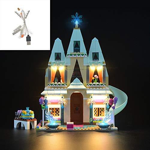 SKLLA USB-LED-Beleuchtung Geeignet für EIS-Schnee Castle Building Blocks, kompatibel mit Lego 41068 (Nur Beleuchtung, Nicht einschließlich Dieses Modell)