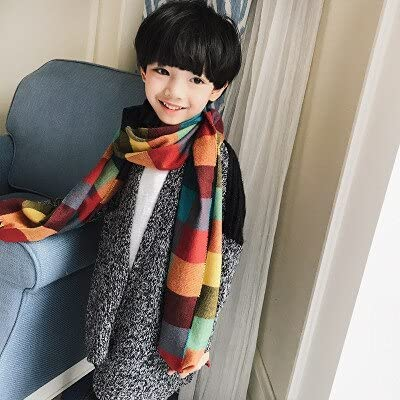 YSJJBTS Scarf Baby Thick Warm Long : Plaid Cheap mail order Free shipping anywhere in the nation shopping Boys Blu Color Girls