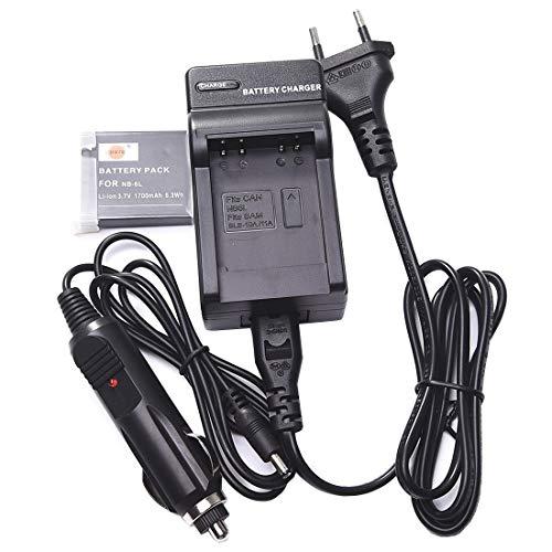 DSTE® Ersatz Batterie und DC23E Reise Ladegerät Compatible für Canon NB-6L NB-6LH PowerShot SX170 IS SX510 SX600 SX710SX610SX275 HS IXY 110 IS IXY 25 IS IXUS 85 IS IXUS 95 IS IXUS 105 200 210 IS