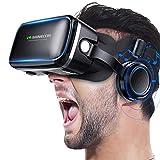 Betidom VRゴーグル VRヘッドセット 3D ゲーム 映画 動画 VR グラス メガネ 4.0~6.2インチ iPhone Android スマホ用 VRヘッドマウントディスプレ ヘッドホン一体型