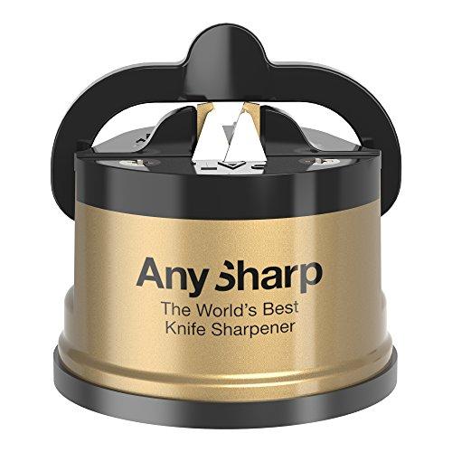 Anysharp affilacoltelli universale classico con PowerGrip, oro