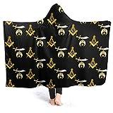 MAOYIHO Polo Mason Shriner Split Hooded Blanket Kids & Adults Sherpa Fleece Blanket