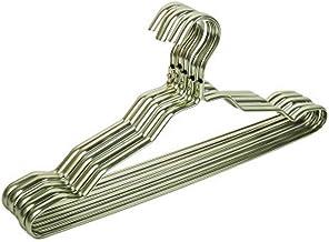 MLLZX 20pcs Metal Hangers for Clothes Hooks Home Aluminum Alloy Anti-slip Drying Rack Thicken Windproof Underwear Belt Coa...