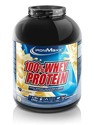 IronMaxx 100% Whey Protein – Whey Proteinpulver auf Wasserbasis – Eiweißpulver mit Weiße Schokolade Geschmack – 1 x 2,35 kg Dose