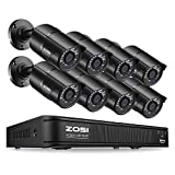 ZOSI 1080p H.265+ PoE Home Security Camera System Outdoor Indoor,8CH 5MP PoE NVR Recorder and (8) 1080p Surveillance Bullet IP Cameras with 120ft Long Night Vision ( No Hard Drive Included)