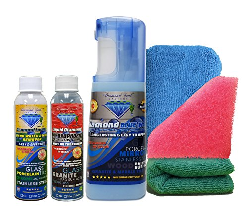Diamond Seal Systems Forever Brilliant Made in The USA. Best Glass Restoration DSS Bath Kit Direct from The Manufacturer