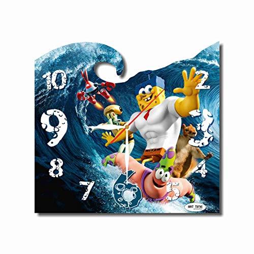 Art time production Spongebob Squarepants 11.8'' Handmade Unique Wall Clock - Get Unique décor for Home or Office – Best Gift Ideas for Kids, Friends, Parents