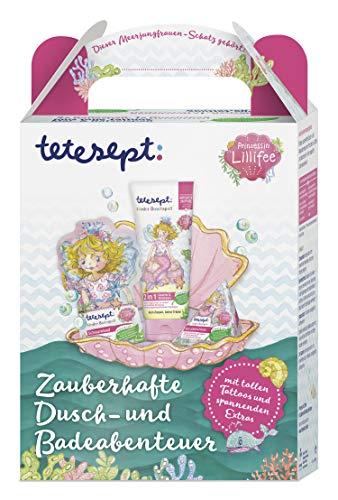 tetesept Prinzessin Lillifee Geschenkset - für zauberhafte Dusch-und Badeabenteuer - Mit tollen Tattoos und spannenden Extras - ideal als Geschenk oder Überraschung für Kinder