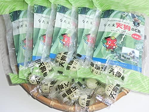 新なたまめ天狗のど飴(5袋セット)80g/袋×5袋 天然蜂蜜 なた豆パウダー 甘さ控えめ