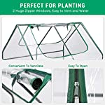 Quictent 49''x37''x36'' Extra-Thick Galvanized Steel Raised Garden Bed Planter Kit Box with Greenhouse 2 Large Zipper… 12 √【Dual Use Raised Bed】Use the raised garden bed and greenhouse together to keep plants warm and growing in winter and spring. Or move the greenhouse to keep other small plants to grow, do as your need. Give you more freedom to use these two parts. √【Extra-thick Reinforced Galvanized Steel】--- 0.5mm thickness galvanized side, 1.0mm galvanized sheet for corner, 11.8inch in height, perfect size with extra-thick steel, stable for using at least 5 years. √【Eco-friendly Galvanized Paint】--- Use eco-friendly galvanized paint, efficiently prevent rust; And with the advanced dark grey, the most popular color, give your garden more beauty. Also never worry about that pest and rain damage the wood garden bed; galvanized steel garden bed provides lasting use and no discoloration.