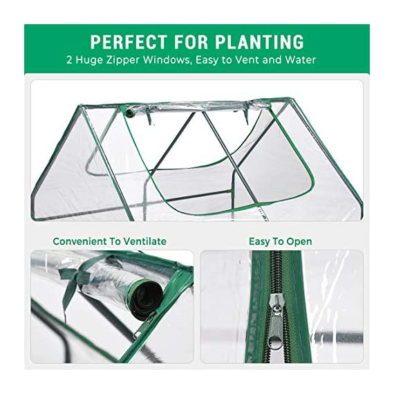 Quictent 49''x37''x36'' Extra-Thick Galvanized Steel Raised Garden Bed Planter Kit Box with Greenhouse 2 Large Zipper… 3 √【Dual Use Raised Bed】Use the raised garden bed and greenhouse together to keep plants warm and growing in winter and spring. Or move the greenhouse to keep other small plants to grow, do as your need. Give you more freedom to use these two parts. √【Extra-thick Reinforced Galvanized Steel】--- 0.5mm thickness galvanized side, 1.0mm galvanized sheet for corner, 11.8inch in height, perfect size with extra-thick steel, stable for using at least 5 years. √【Eco-friendly Galvanized Paint】--- Use eco-friendly galvanized paint, efficiently prevent rust; And with the advanced dark grey, the most popular color, give your garden more beauty. Also never worry about that pest and rain damage the wood garden bed; galvanized steel garden bed provides lasting use and no discoloration.