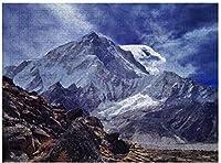 新しいヒマラヤ山インドネパール自然雪パズル1000ピース木製大人のジグソーパズル色子供のための抽象的な絵画パズル教育玩具ギフト