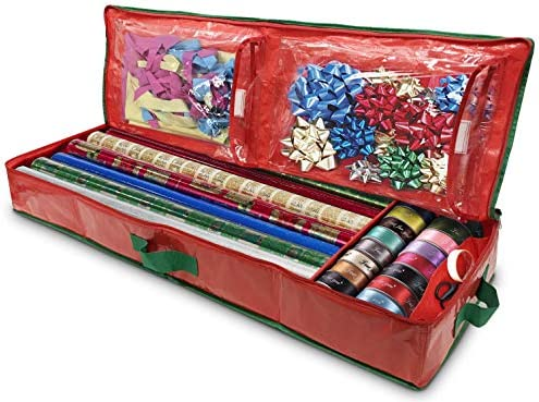 Gift Wrap Storage Organizer Easily Organize Your Wrapping Paper Ribbons Bows and Scissors Keeps product image
