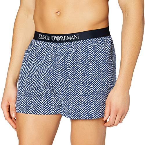 Emporio Armani Underwear Mens Classic Pattern Mix Boxer Shorts, Chevron, XL