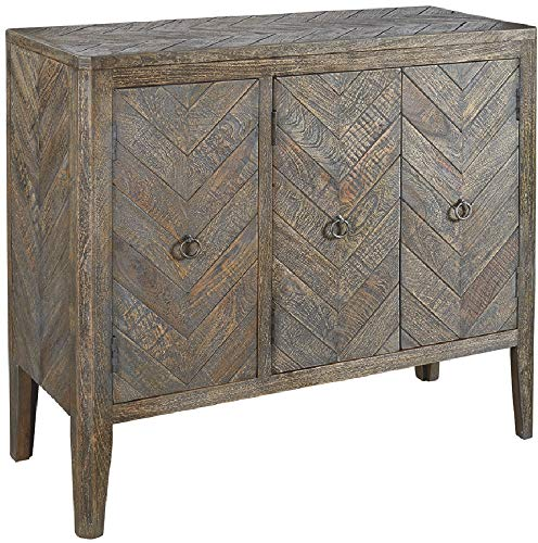 Signature Design by Ashley Ashley Furniture Signature Design-Aidanburg Accent Cabinet, Antique Gray