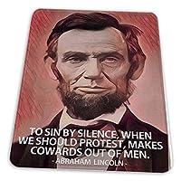 マウスパッド ゲーミングマウスパッド-罪による沈黙は男性からの臆病者を作るエイブラハム・リンカーンの引用滑り止め デスクマット 水洗い 25x30cm