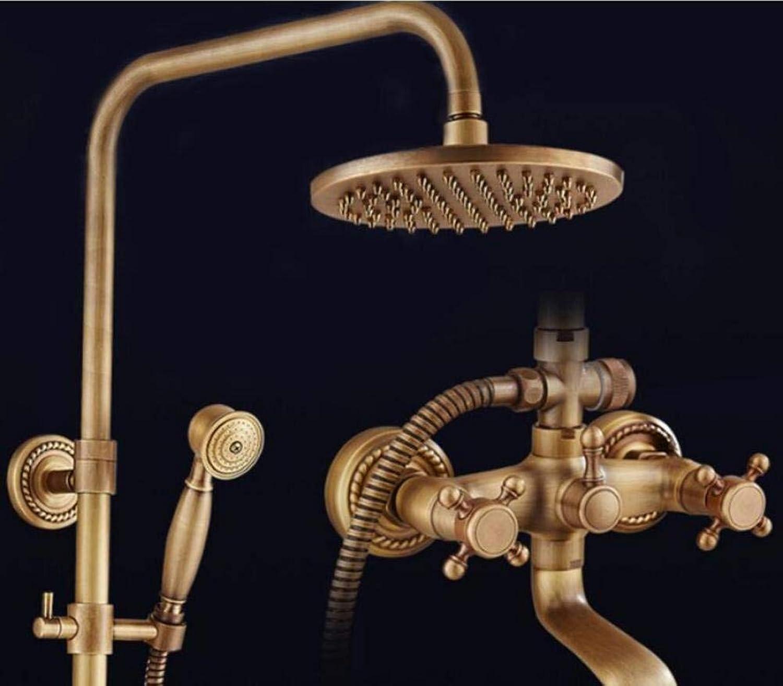 Kupfer Retro Dusche, Dusche mit abnehmbarem Duschkopf, Europischen antik gebürstetes Bad Armatur