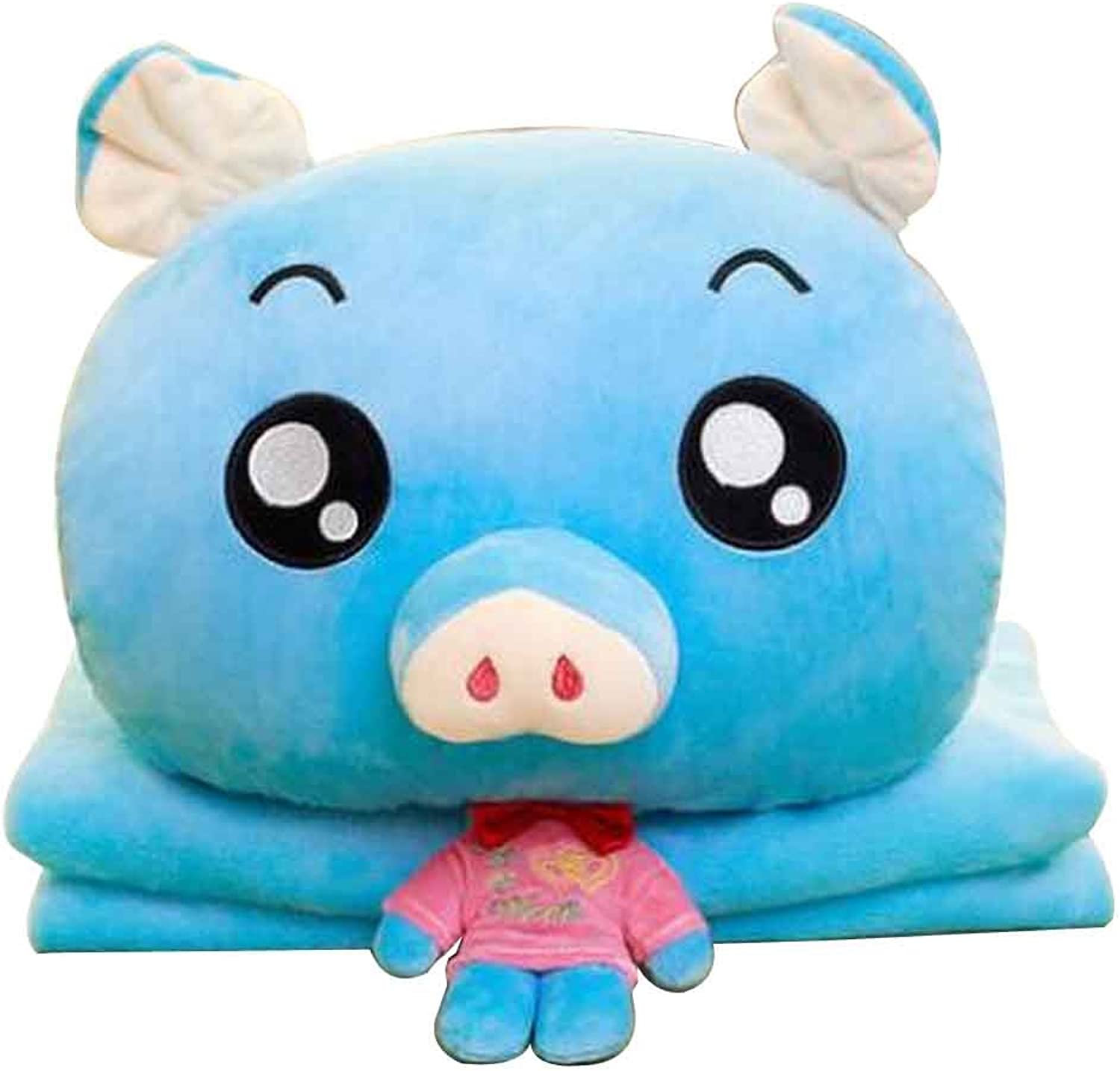 Cute Little Pig 3 in 1 Blanket Cushion Pillow, Perfect Winter [H]