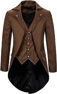 BZLine Male Vintage Tuxedo Banquet Suits (S-L2), Gentleman Retro Tailcoat Men Elegant Suit Jacket Handsome Evening Dress O...