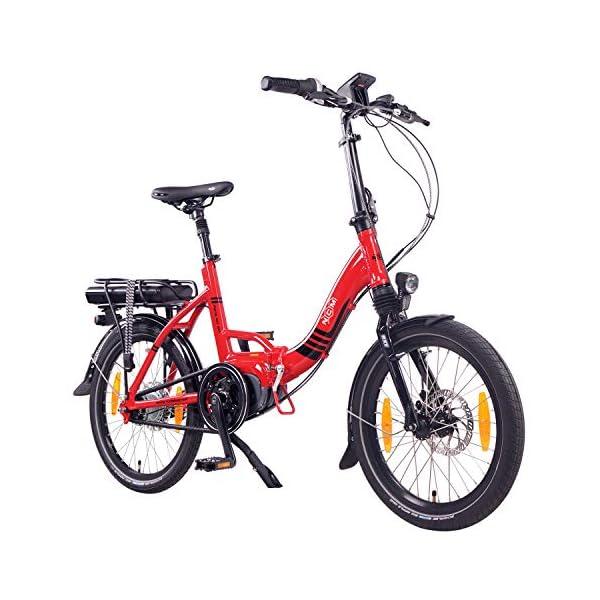 """51P3ovxHeEL. SS600  - NCM Paris MAX N8R / N8C E-Bike, E-Faltrad, 250W, 36V 14Ah 504Wh Akku, 20"""" Zoll"""