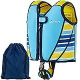 Chaleco de Natación de Neopreno de la Marca Limmys Premium para Niños, Flotador para el Aprendizaje de la Natación Ideal para Niños, Incluye una Bolsa con Cordón EXTRA (Small) (Medio)