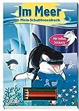 Im Meer - Mein Schablonenbuch: mit Stickern und Buntstiften