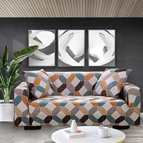 ASCV Funda de sofá elástica con Estampado Floral Fundas de sofá Fundas de sofá para Sala de Estar Sofá de Esquina Toalla Funda de sofá A1 4 plazas