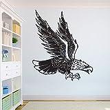 Modeganqingg Adler schöne Wolf Wandtattoos afrikanischen Wilden Löwen stolz Tier Home Interior Design Art Office Wandhauptdekoration schwarz 57X67CM