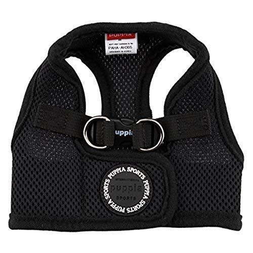 Puppia Soft Vest Dog Harness - Black - X-Large