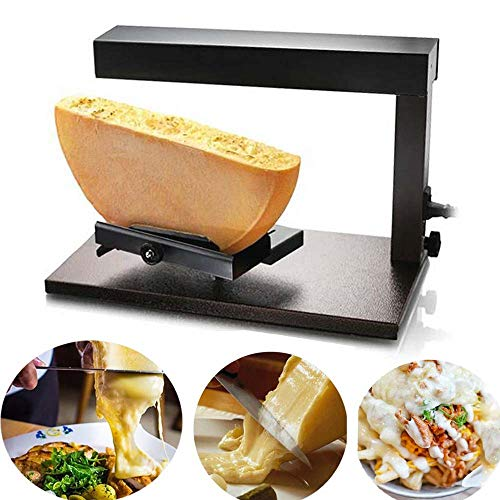 Li Bai Raclette Cheese Melter Commercial Electric Machine For Half Nacho Cheese Wheel Multi-Function Adjustable Angle Stainless Steel 650W Rapid Heating(750A)