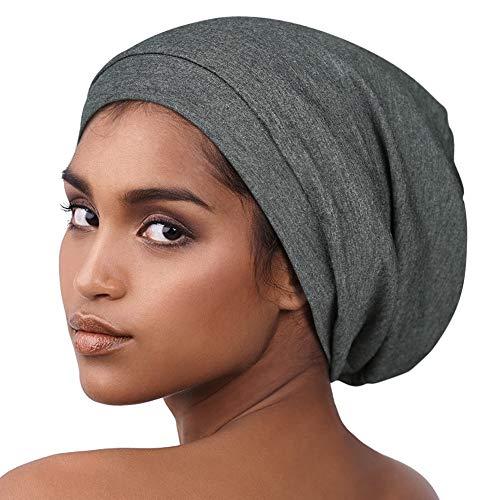 Alnorm Chapeau doublé en Satin Confortable Slumber Cap Chapeau de crâne Souple Bonnet Coton