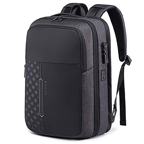 Bange リュック メンズ 大容量 ビジネス リュックサック USBポート&イヤホン穴 3way 15.6型pc収納 通勤 出張 (ブラック)