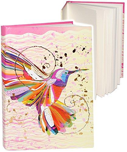 alles-meine.de GmbH 3-D Effekt Relief & Glanz Druck - Tagebuch / Reisetagebuch / Notizbuch -  Vogel Kolibri - Design Turnowsky  - A5 blanko weiß - Dickes Buch gebunden - 200 Se..