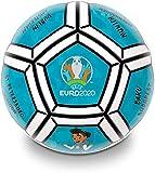official product UEFA Euro 2020 Ballon de football en PVC pour fille/enfant – Couleur bleu/noir/blanc – Taille 5