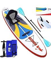 DURAERO Tabla Hinchable Paddle Surf Sup Paddel Surf Bomba, Asiento de Kayak, Almohadilla integrada, Aleta Desprendible, Doble Remo Ajustable, Kit de Reparación, 305 x 76 x 15 cm, hasta 110 kg