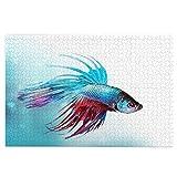 Rompecabezas de 1000 piezas Siamés Lucha Betta Fish Natación En Acuario Aggressive Mar Grande Familia Puzzle Juego Arte para Adultos Adolescentes