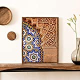 Marokkanische Wandkunst Leinwand Druck Marrakesch