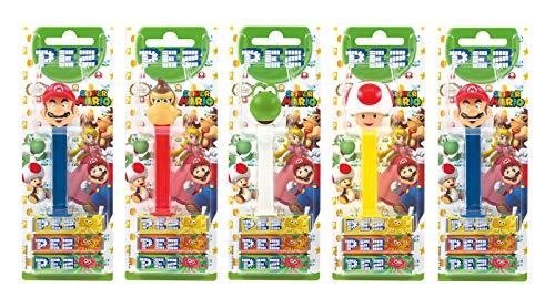 PEZ Spender Set NINTENDO (5 Spender mit je 3 PEZ Bonbons á 8,5g) + 1 Nachfüllpack (8 PEZ Bonbons á 8,5g)